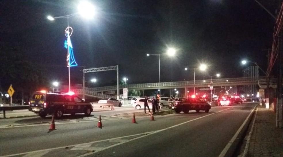 Polícia Rodoviária Federal realizou Operação Carnatal 2018 na capital potiguar neste fim de semana — Foto: Divulgação/PRF