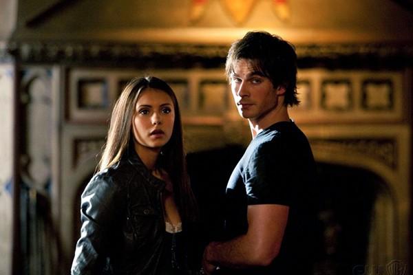 Ian Somerhalder e Nina Dobrev em cena de The Vampire Diaries (Foto: Divulgação)