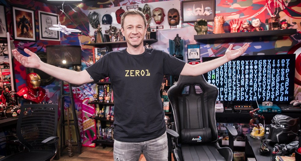 'Zero1', apresentado por Tiago Leifert, volta no dia 20, após o 'Altas Horas' — Foto: Crédito: Globo/João Miguel Júnior
