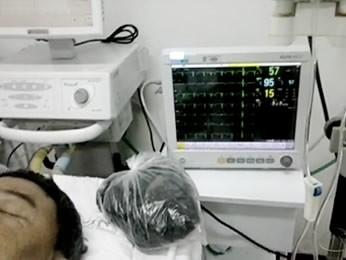 Vitalino Ventura da Silva foi transferido para a UTI do Pronto-Socorro de Cuiabá. (Foto: Reprodução/TVCA)