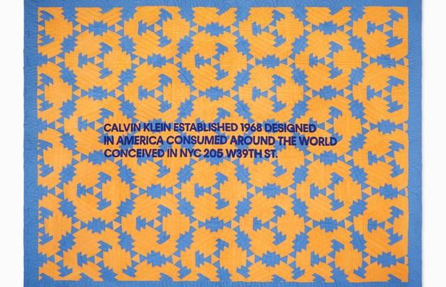 Uma das quilts americanas da Calvin Klein (Foto: Calvin Klein/ Reprodução)