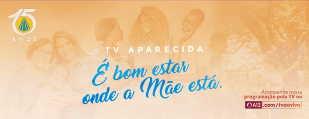 TV Aparecida transmite missas celebradas na Santuário de Aparecida, em São Paulo — Foto: Reprodução/TV Aparecida