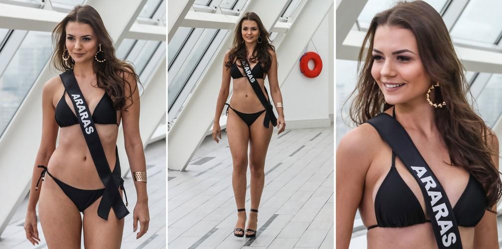 A Miss Araras, Carolina Perches, 23 anos, candidata a Miss São Paulo 2018 (Foto: Fábio Tito/G1)