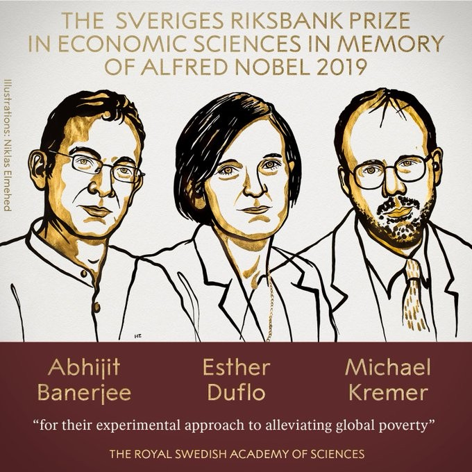Abhijit Banerjee, Esther Duflo e Michael Kremer ganham Nobel de Economia 2019 - Notícias - Plantão Diário