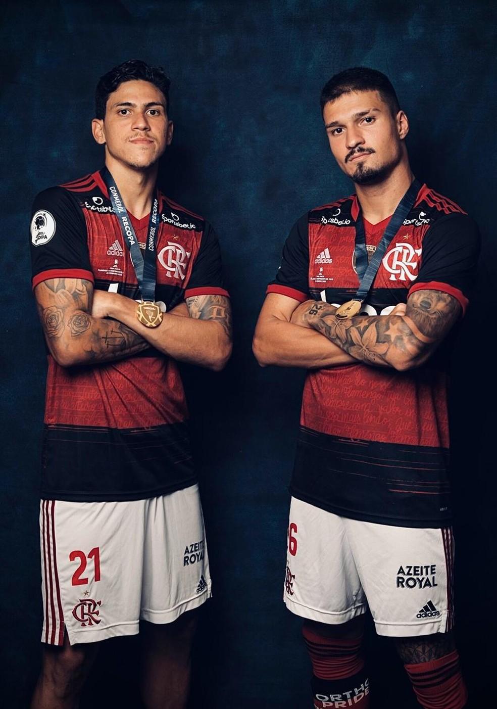 Pedro e Thuler Flamengo — Foto: Divulgação Conmebol