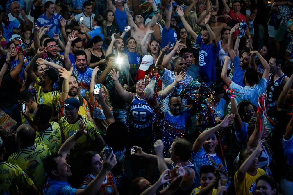 torcida, Acadêmicos do Tatuapé, carnaval, são paulo, sp, anhembi (Foto: FELIPE RAU/ESTADÃO CONTEÚDO)