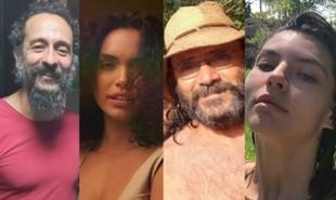 Irandhir Santos, Giovana Cordeiro, Almir Sater e Alanis Guillen já estão caracterizados para a novela gravada no Mato Grosso do Sul | Reprodução/Instagram