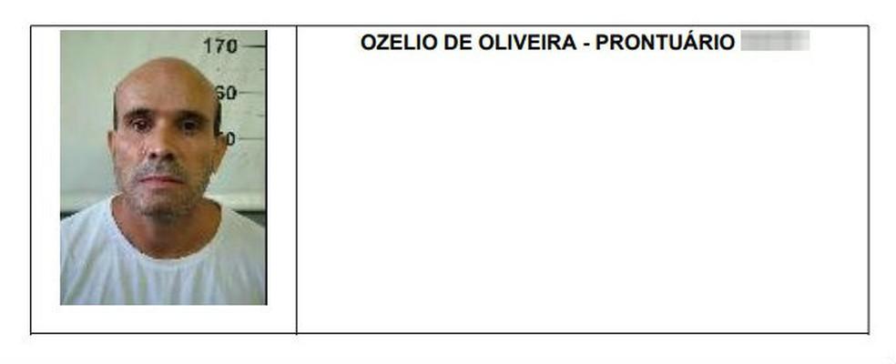 Ozélio de Oliveira, preso pelo sequestro do cantor gospel Wellington Camargo, irmão da dupla Zezé Di Camargo e Luciano, fugiu de penitenciária no Paraná nesta terça (11) — Foto: Reprodução/Depen