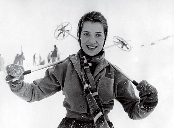 4 | Eunice em sua lua de mel em Bariloche, em 1952 (Foto: Acervo da Família)