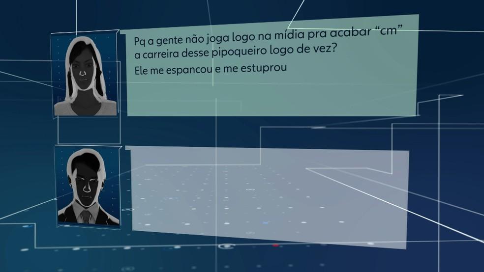 Mulher que acusa Neymar fala com advogado afirmando que jogador a espancou e estuprou — Foto: TV Globo/Reprodução