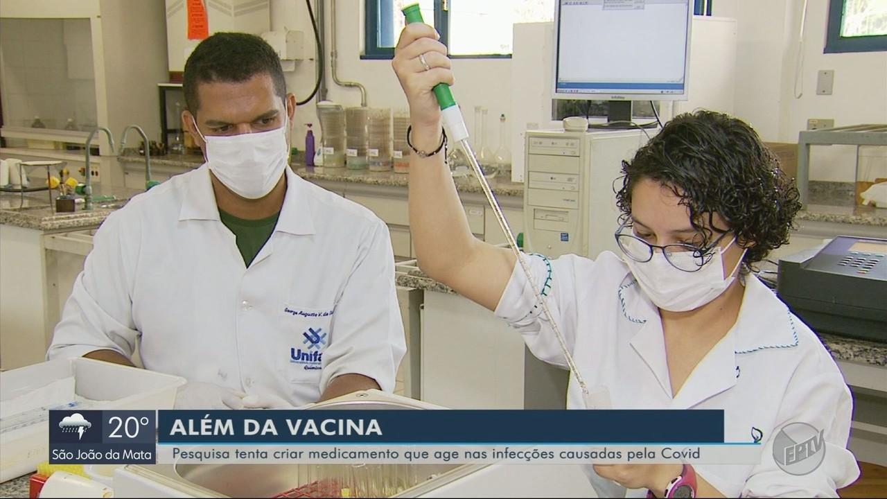 Pesquisa tenta criar medicamento que age nas infecções causadas pela Covid-19