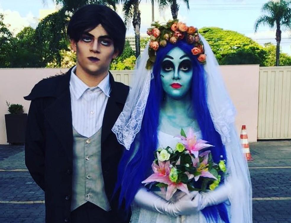 """Personagens do espetáculo """"Noiva esqueleto"""" — Foto: Noiva esqueleto/Divulgação"""