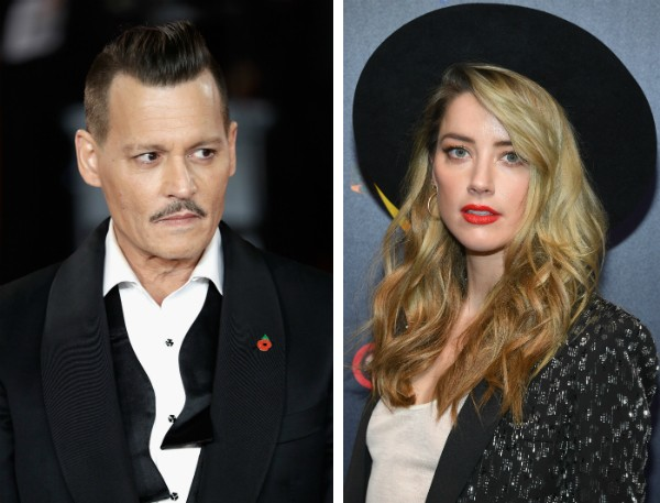 O ator Johnny Depp e a atriz Amber Heard (Foto: Getty Images)