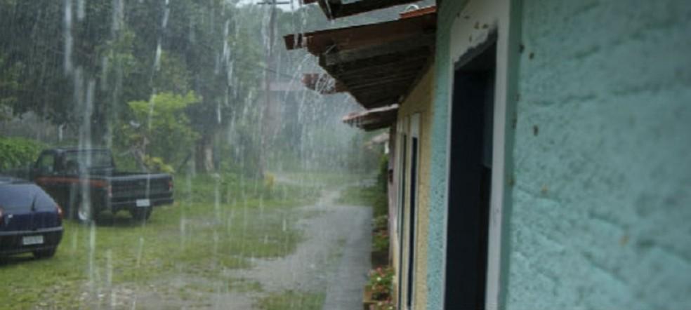 Sequência de chuva ameniza temperatura no Ceará — Foto: Funceme/Reprodução