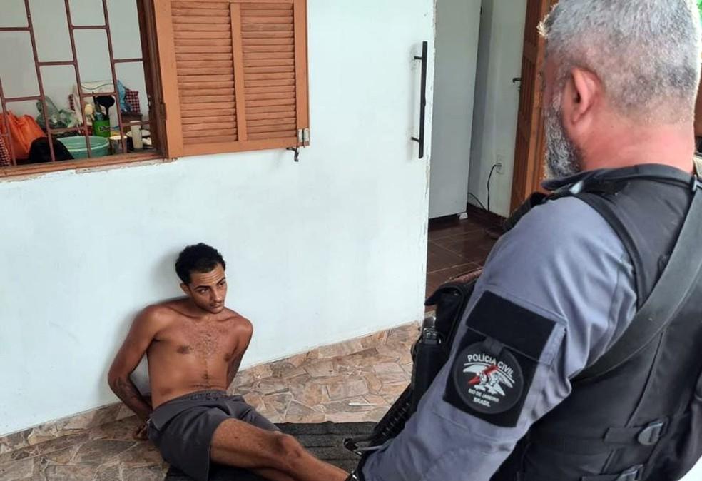 Matheus Roubadel da Silva Gomes foi preso em Araruama — Foto: Reprodução