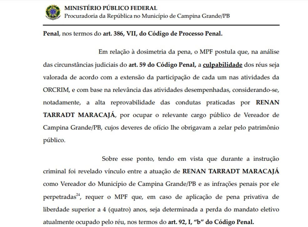 MPF argumenta que o vereador seria o administrador de uma das empresas  investigadas por participação em licitações supostamente fraudadas — Foto: MPF/Reprodução