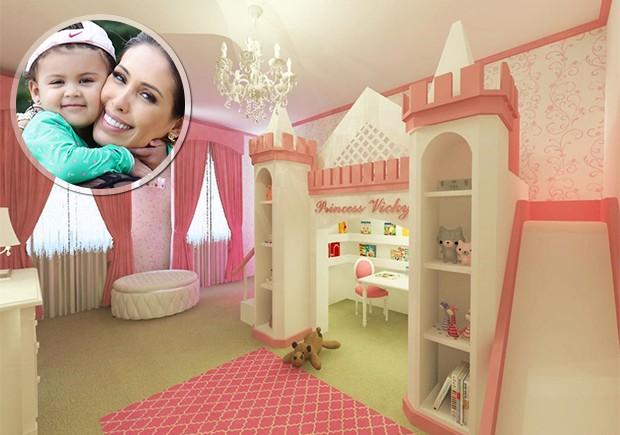 Bella Falconi exibe novo quarto da primogênita Vicky (Foto: Reprodução/ Instagram)