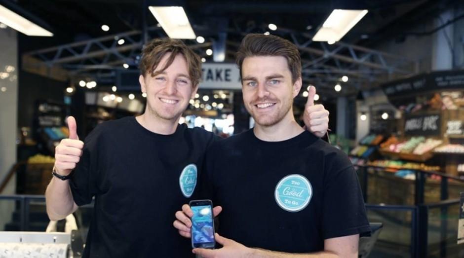 Too Good to Go foi fundado por Crummie (E) e Wilson (Foto: Divulgação )