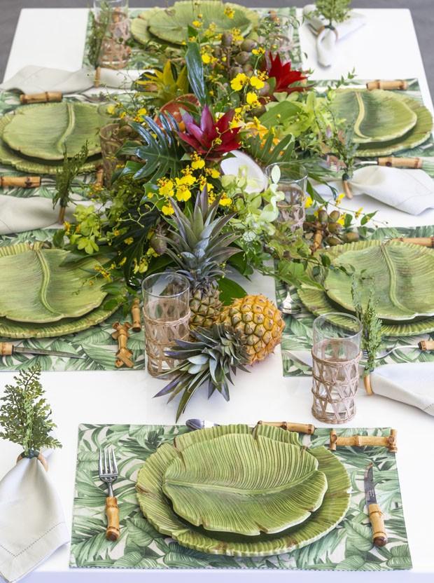 Receber na Copa do Mundo: como montar uma decoração de mesa tropical (Foto: Douglas Daniel)
