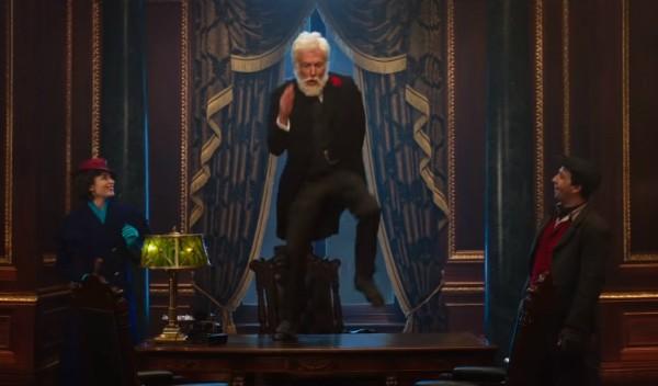 """Dick Van Dyke em trailer de """"O Retorno de Mary Poppins""""  (Foto: Reprodução Youtube)"""