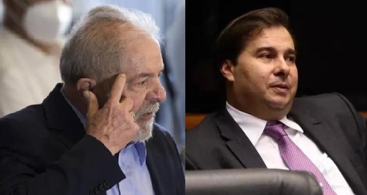 O ex-presidente Lula e o deputado federal Rodrigo Maia