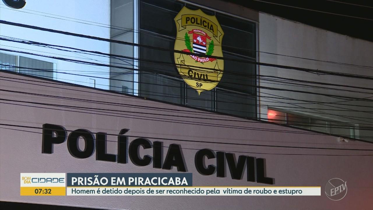 Polícia prende homem por roubo e estupro após vítima reconhecê-lo em Piracicaba