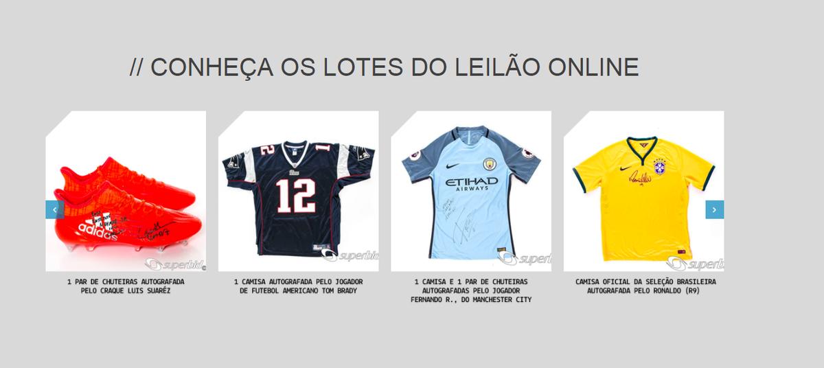 Instituto Neymar Jr leiloa camisas b2a4f3fce0efd