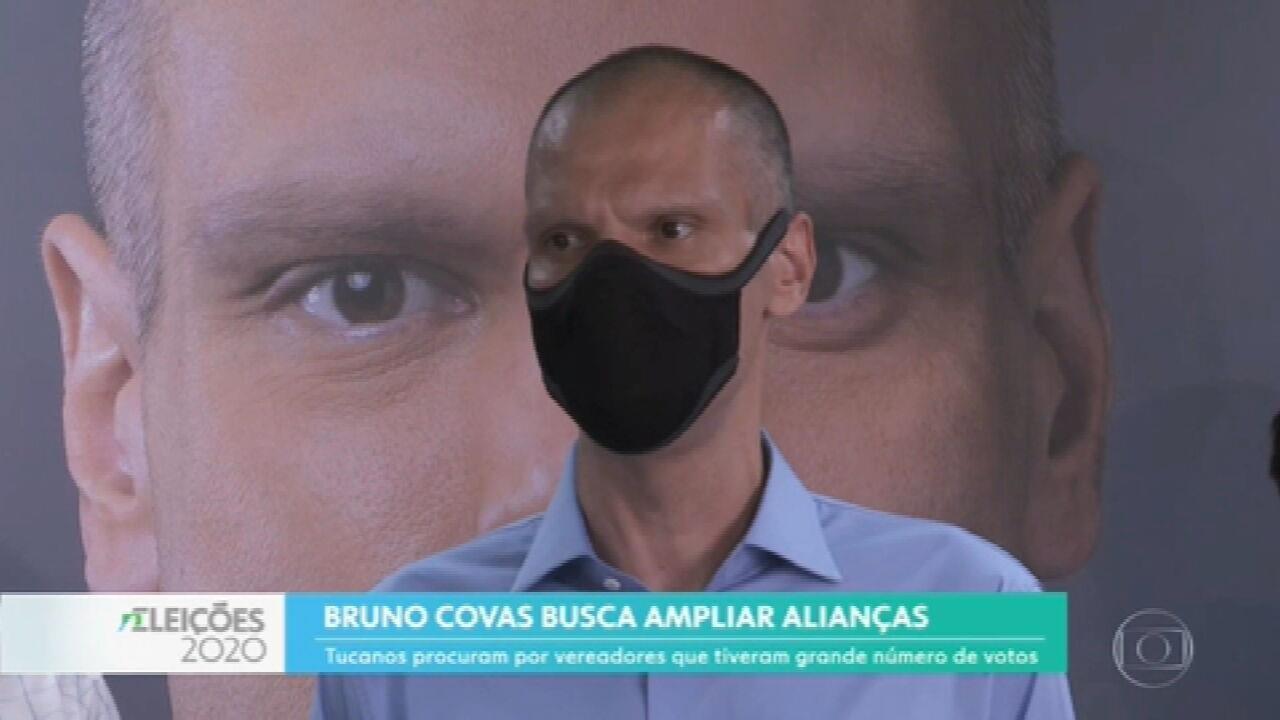 Bruno Covas (PSDB) busca apoio de candidatos derrotados e de vereadores eleitos