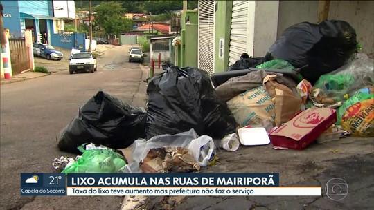Lixo acumula nas ruas de Mairiporã