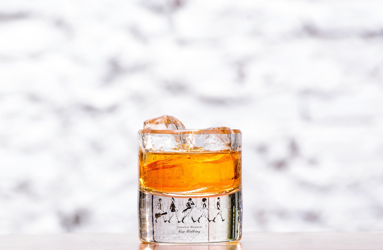 O copo 'meio cheio' da Johhnie Walker (Foto: Eduardo Barillari)