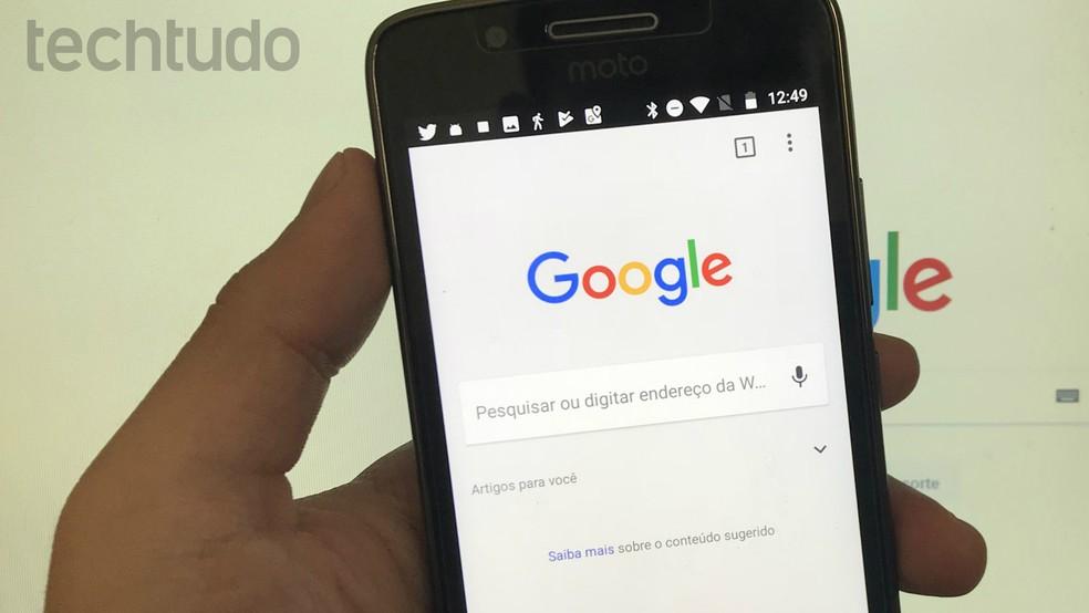 Google pode rastrear pesquisas para refinar anúncios — Foto: Rodrigo Fernandes/TechTudo