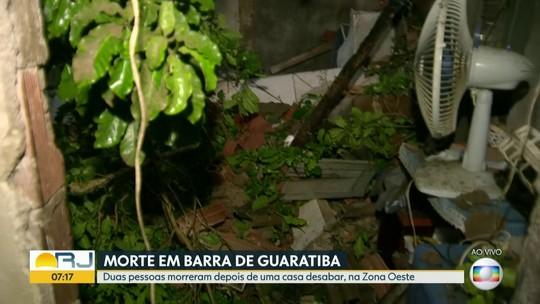 Mãe e filho morrem após desabamento de uma casa em Barra de Guaratiba