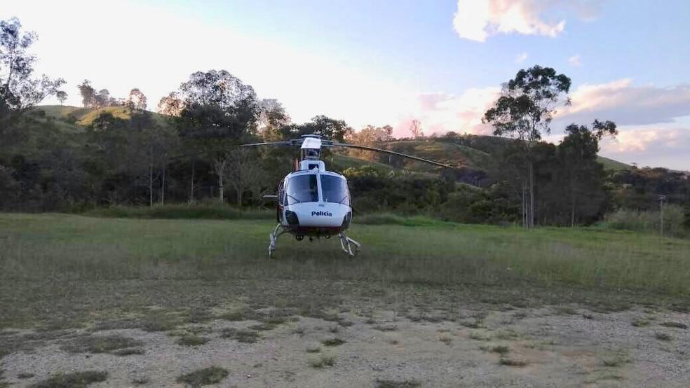 Borracheiro foi socorrido em estado grave pelo helicóptero Águia (Foto: Divulgação/Águia)