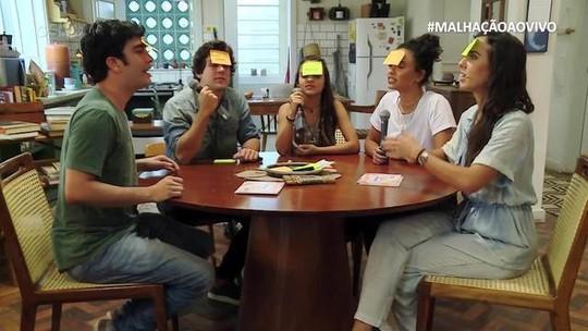 #MalhaçãoAoVivo tem trote para Carmo Dalla Vecchia, presença de Giovana Cordeiro e alerta de Daniel Rangel