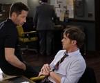 David Duchovny e Gethin Anthony em cena de 'Aquarius' | Divulgação