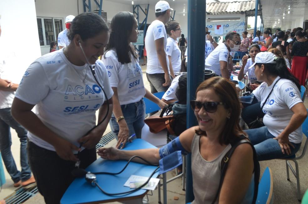 -  Serviços de saúde estão entre os mais procurados na Ação Global no Amapá  Foto: Jorge Abreu/G1