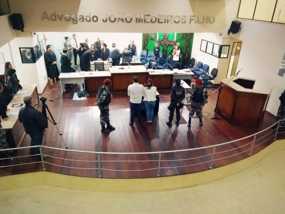 Renatta Borsatto Miranda e Antônio Neto foram condenados pela morte do hoteleiro Ademar Miranda em Natal â?? Foto: Acson Freitas/Inter TV Cabugi
