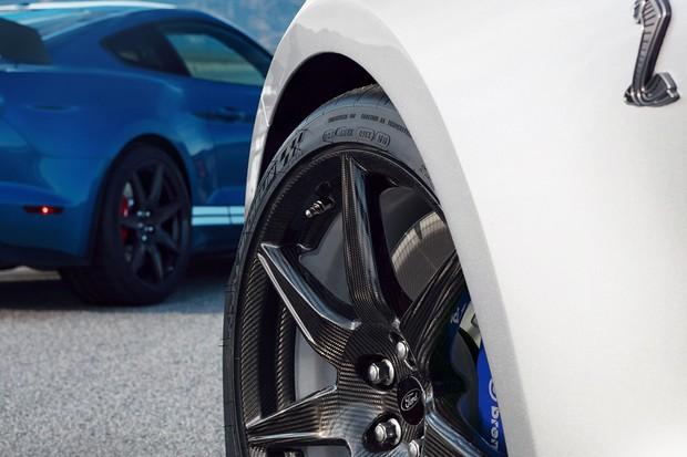 As enormes rodas são feitas inteiramente de fibra de carbono (Foto: Divulgação)