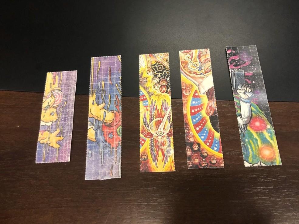 Os micropontos de LSD foram recebidos pelos Correios. — Foto: Maristela Gláucia/SVM
