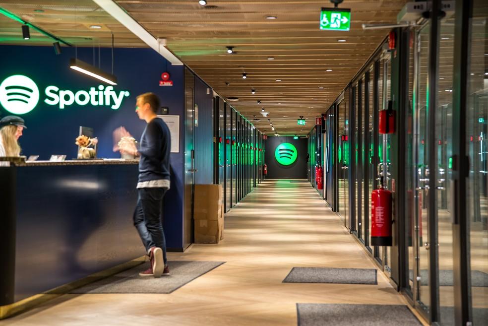 Sede do Spotify em Estocolmo, na Suécia — Foto: Divulgação/Spotify