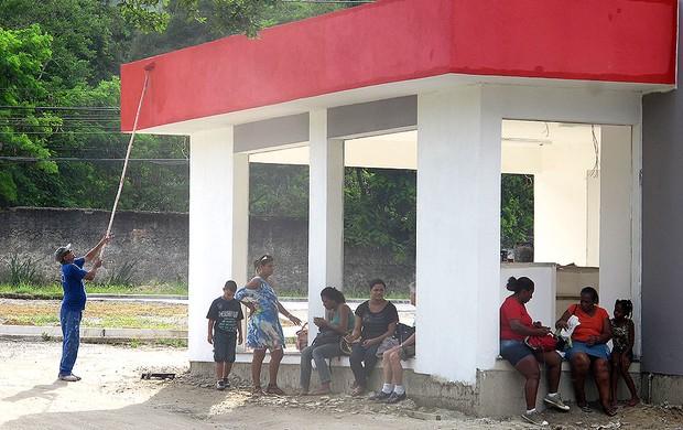 Curtinha: Flamengo pinta a entrada do Ninho do Urubu