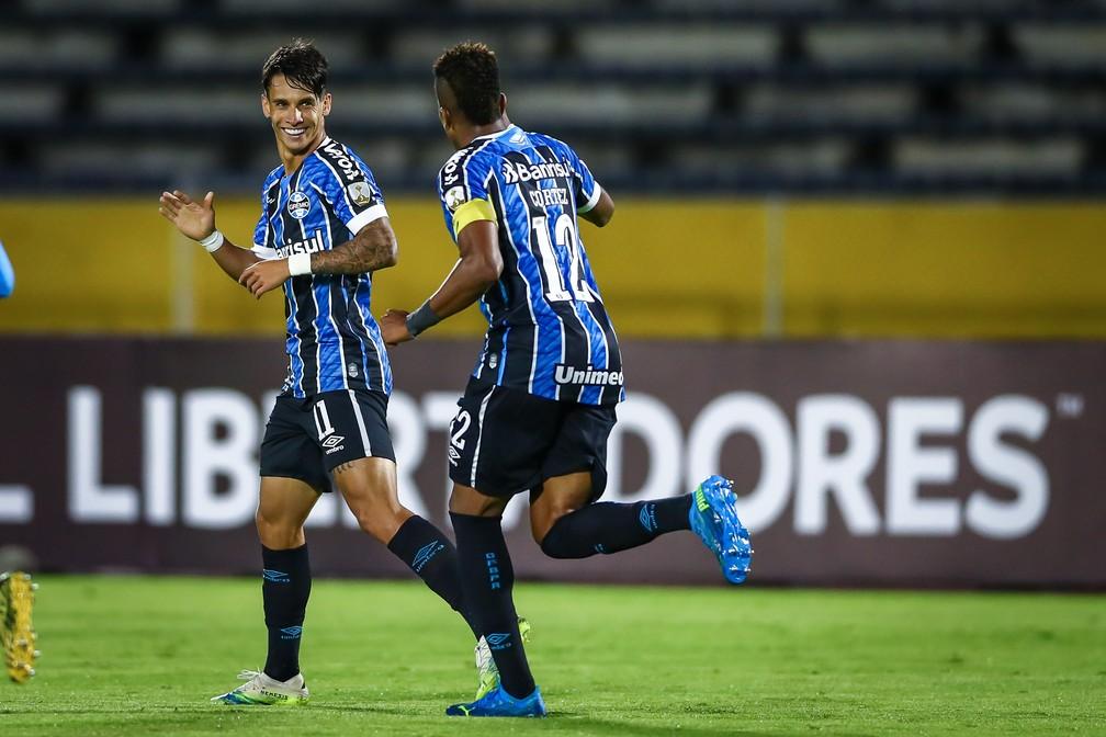 Ferreira liderou o Grêmio em classificação à próxima fase da Libertadores — Foto: Lucas Uebel/DVG/Grêmio