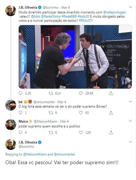 Boninho fala de Poder Supremo (Foto: Reprodução/Twitter)