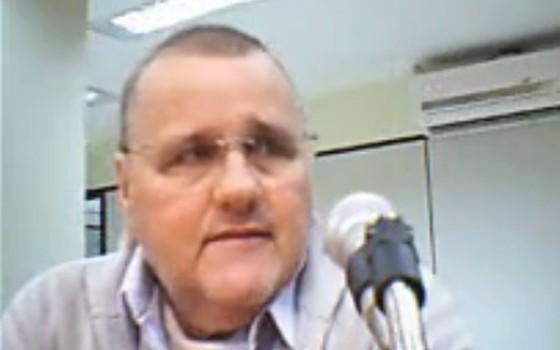 O ex-ministro Geddel Vieira Lima presta depoimento em Brasília. Ele foi preso na segunda-feira (3) (Foto: Reprodução)