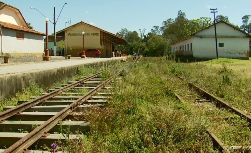 Convênio prevê restauração de linha férrea entre São Sebastião do Rio Verde e São Lourenço (Foto: Reprodução EPTV)