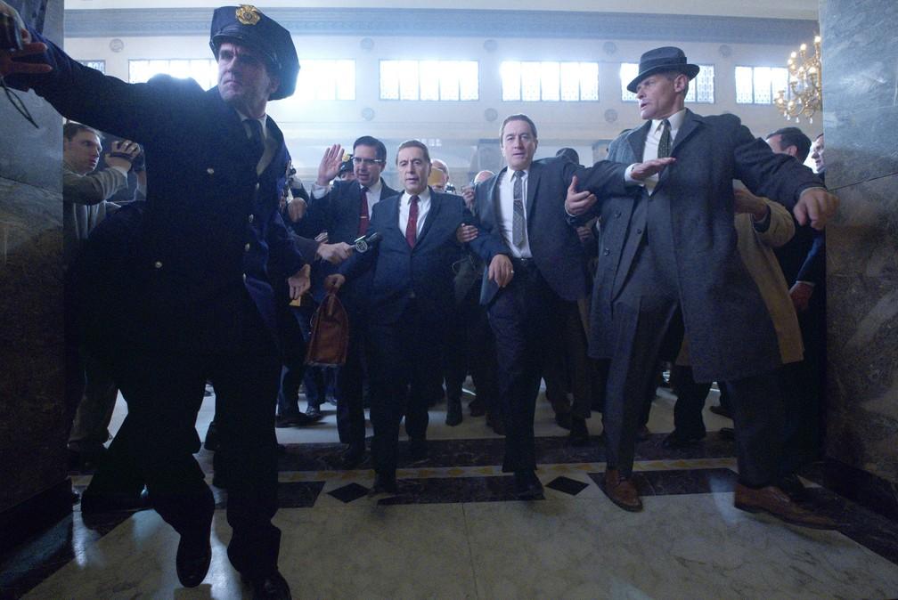 """""""O irlândes"""", novo filme de Scorsese com Robert De Niro e Al Pacino — Foto: Divulgação"""