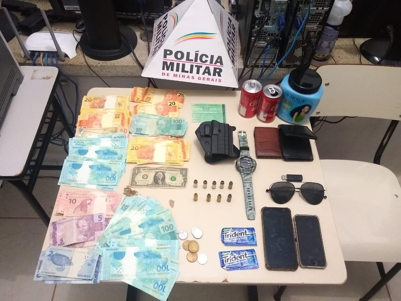 PM prende dois homens com R$ 5.906 em notas falsas em Cabeceira Grande; eles estavam repassando dinheiro no comércio