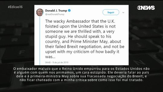 Trump ataca May e embaixador britânico após vazamento de e-mails
