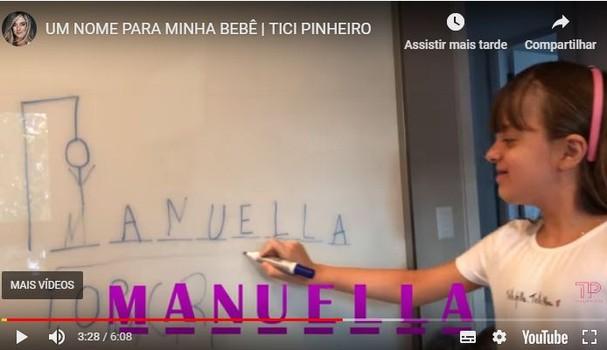 Ticiane Pinheiro revela nome de bebê (Foto: Reprodução )