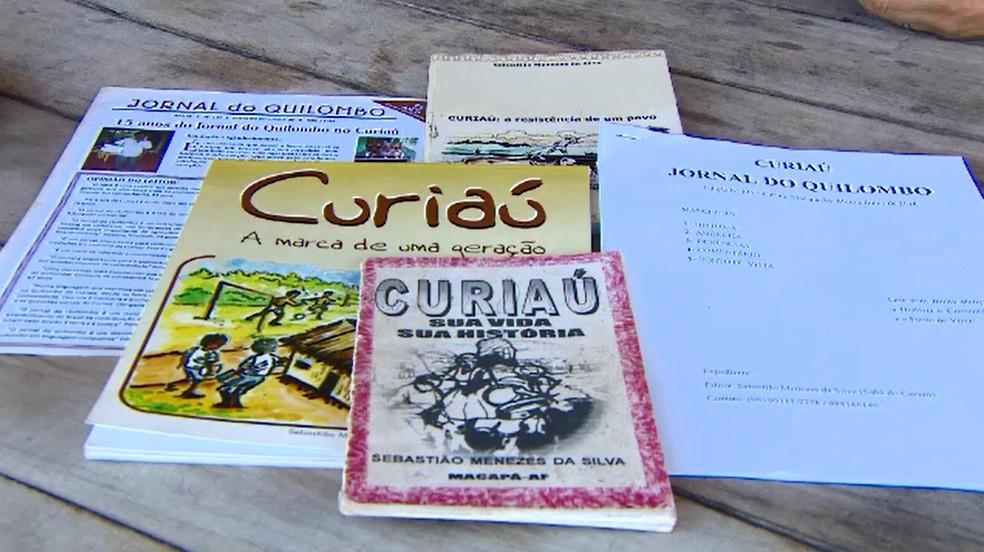 Paixão pela escrita já resultou na publicação de três livros, além do jornal (Foto: Rede Amazônica/Reprodução)